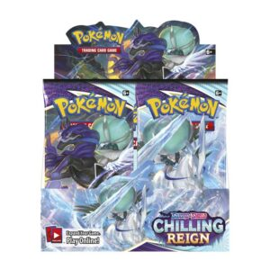 Buy Pokémon TCG: Sword & Shield-Chilling Reign Booster Display Box (36 Packs) only at Bored Game Company.